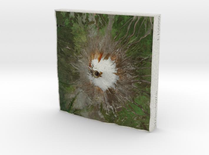 Volcan Cotopaxi, Ecuador, 1:150000 3d printed