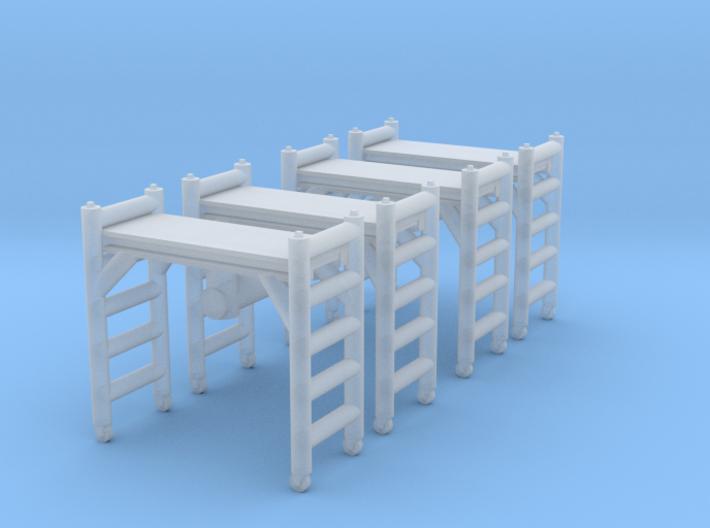 Scaffolding Unit (x4) 1/120 3d printed
