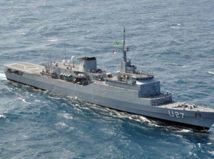 Nameplate Brasil 3d printed Niteroi class frigate Brasil.