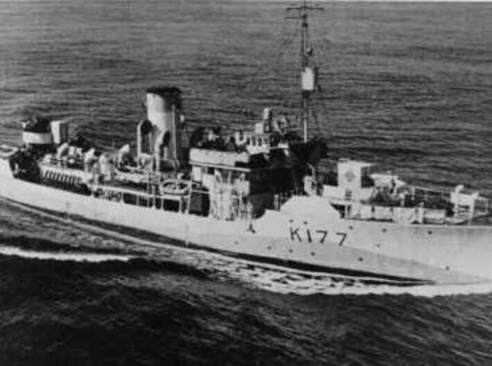 Nameplate Independencia 3d printed Flower class corvette ARV Independencia as HMCS Dunvegan.