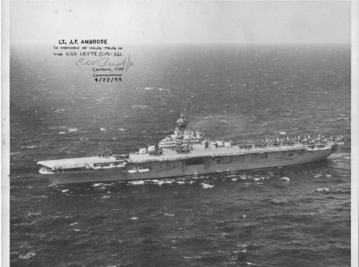Nameplate USS Leyte CVS-32 3d printed Essex class aircraft carrier USS Leyte CV-32.
