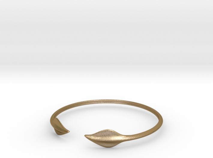 "Leaf Bracelet 3"" Diameter 3d printed"