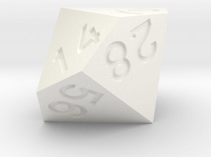 7 times table d10 3d printed