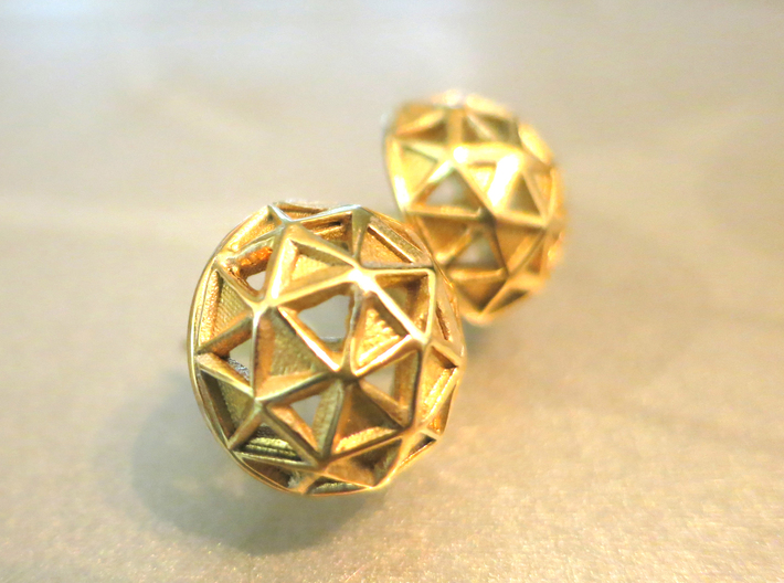 Icosphere Stud Earring 3d printed Add a caption...
