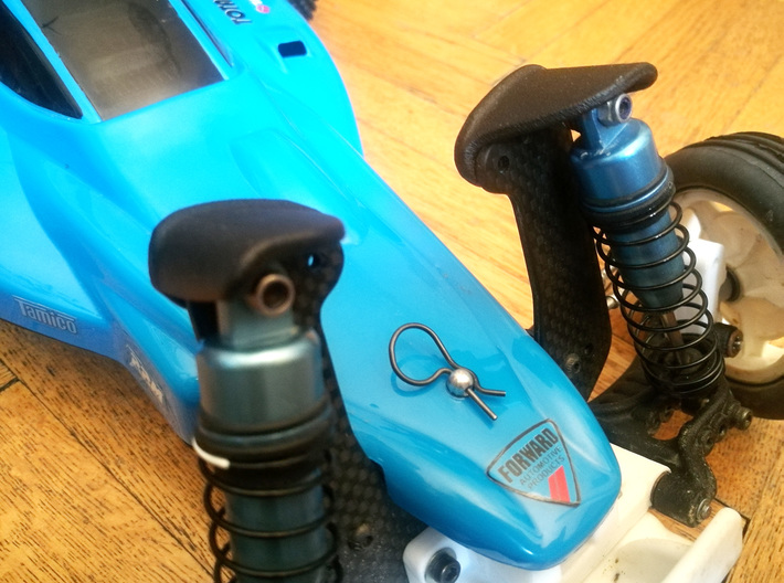 Dyna Storm front shocktower protector 3d printed Shocktower Protection