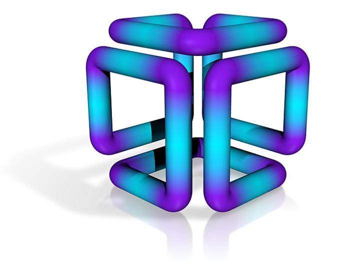 Blue Cube 3d printed