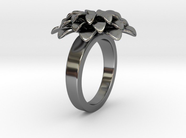 Bloom E Ring 3d printed