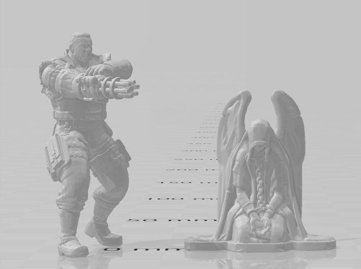 Chained Angel miniature model fantasy game dnd rpg 3d printed