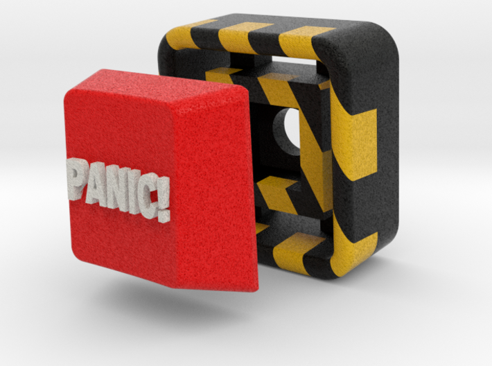 Full Color Button of Panic 3d printed