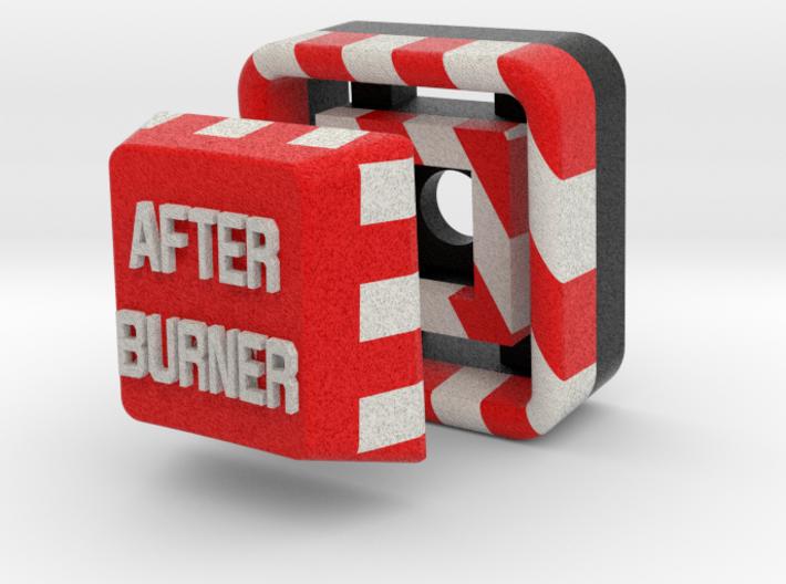 Full Color After Burner Button 3d printed