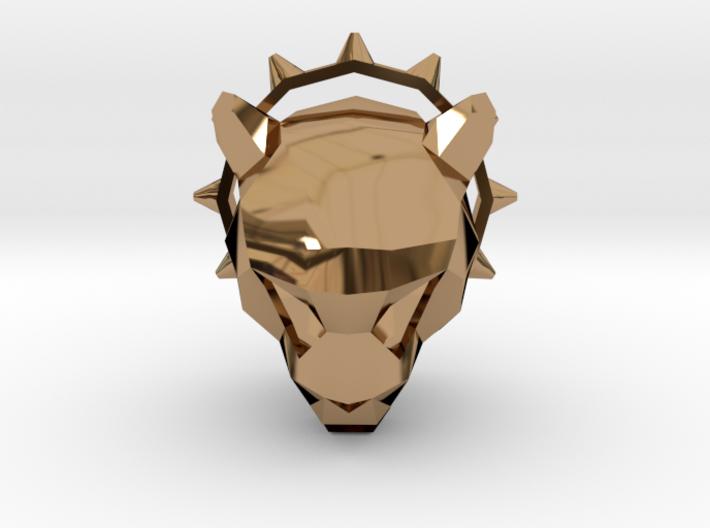 Spiked Cheetah Pendant 3d printed