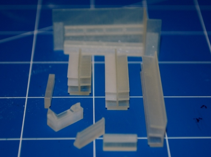 N-Scale DPM Corner Turret Building - Pharmacy 3d printed Production Sample - Interior Parts