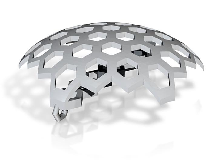 honeycomb pendant link 3d printed