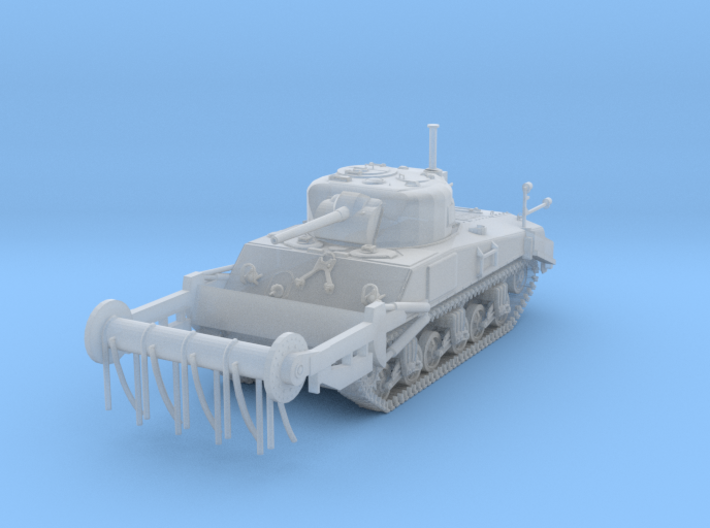 1/87 Scale M4A4 Sherman Tank with Crab Frail 3d printed