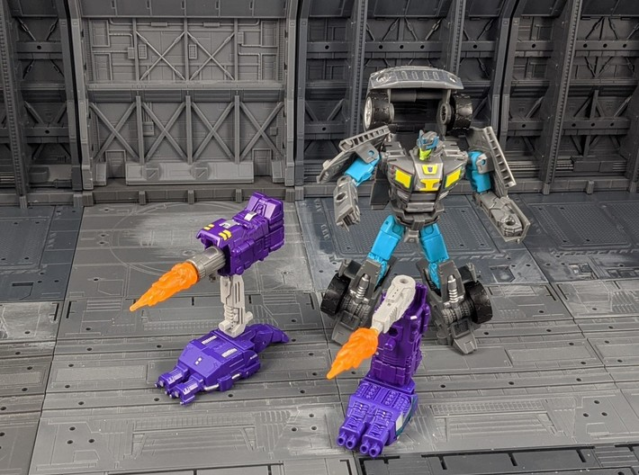 TF Combiner Wars Truck Cannon Adapter Set 3d printed Combined with other accessories