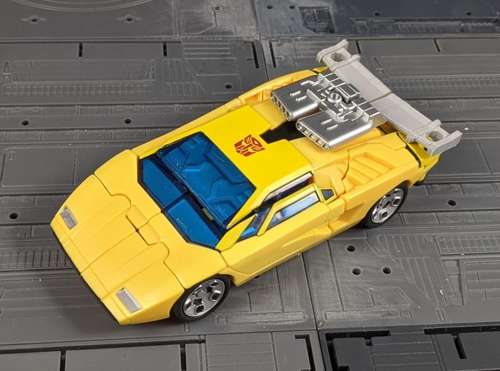 TF Earthrise Sunstreaker Spoiler with 5mm ports 3d printed