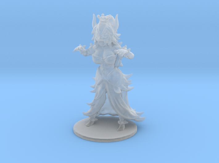 Bowsette 1/60 miniature for fantasy rpg and games 3d printed
