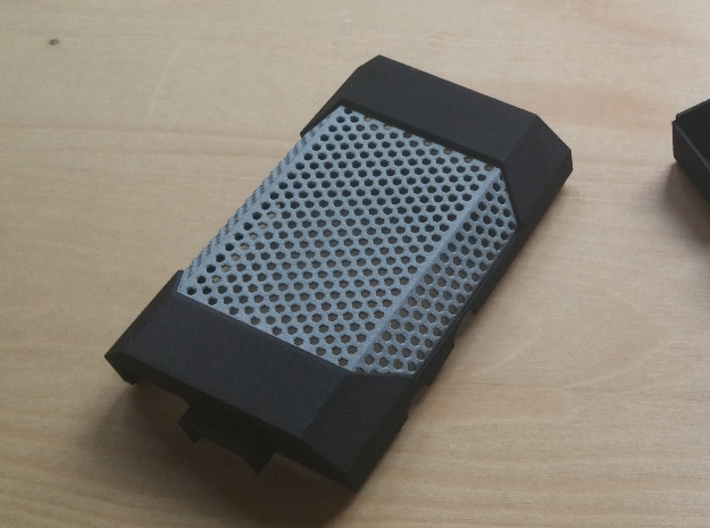 Pi Case 3d printed The lid with the mesh insert