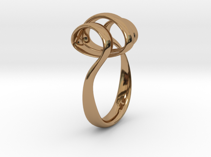 Triple Curl ring 3d printed