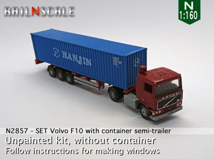 SET Volvo F10 & Container chassis (N 1:160) 3d printed