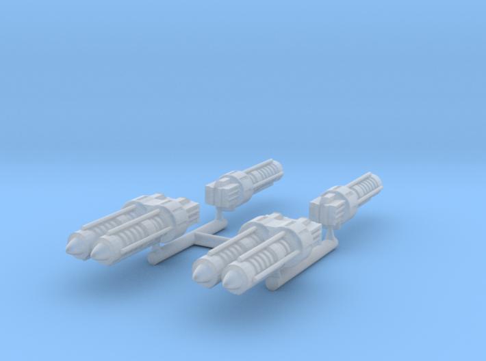 Gaslands lasers 3d printed