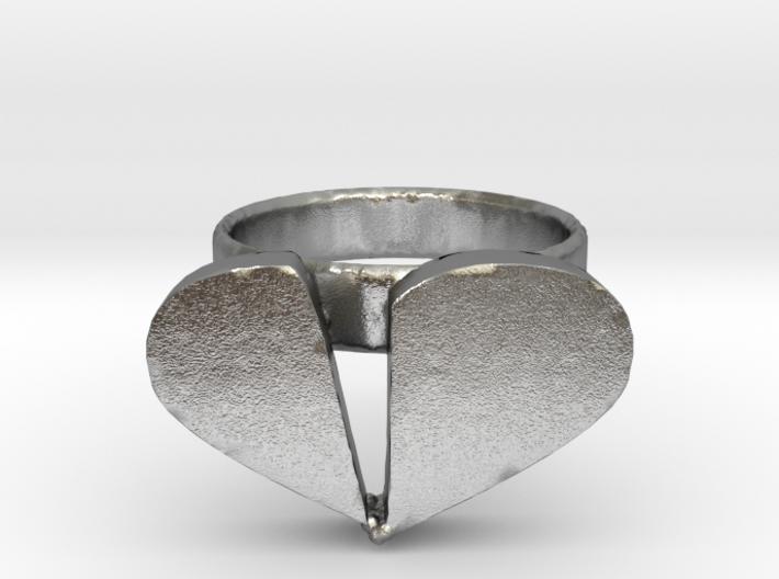 Broken Heart Ring 3d printed