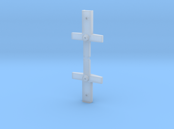 AHM FLEXI-FLO HOPPER BOLSTER AND DRAFT GEAR BOX 3d printed