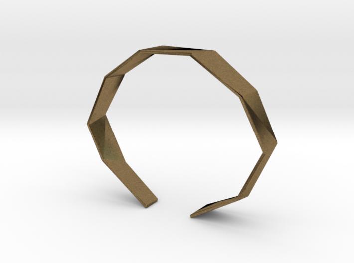Faceted Bracelet Size L 3d printed