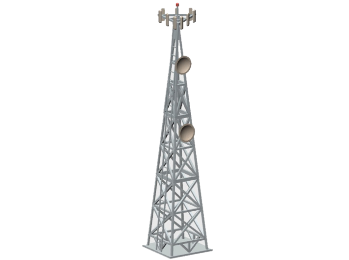 Cell Tower (HO) 3d printed Part CT-001