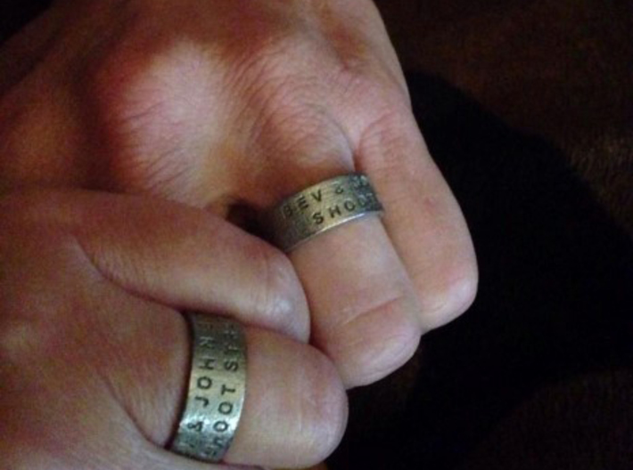 Duck Band Ring 3d printed Cool Wedding Set We Made For a Bow Hunting Couple