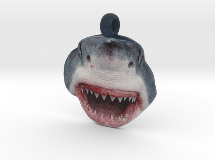 Shark Face Pendant (double-sided) 3d printed