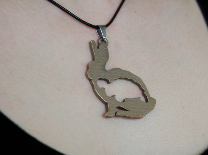 Tortoise and the Hare Necklace Pendant 3d printed