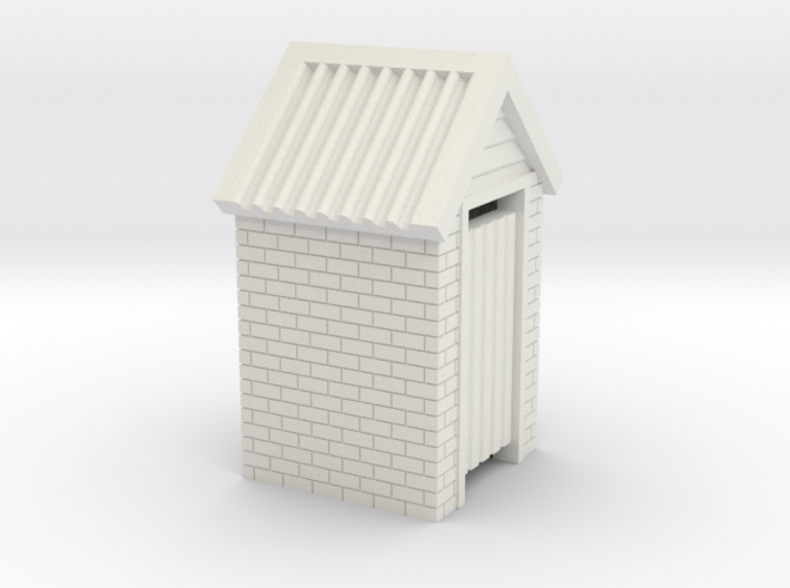 HO Scale Brick Outdoor Toilet Dunny 1:87 3d printed