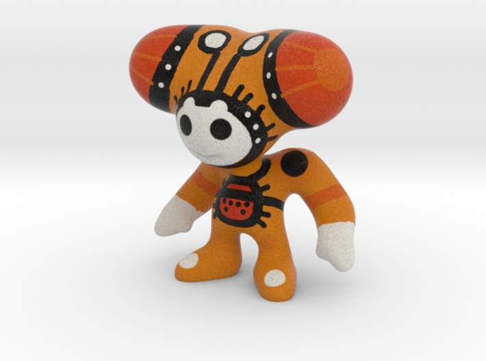Toy Art War Double Orange Hair 3d printed