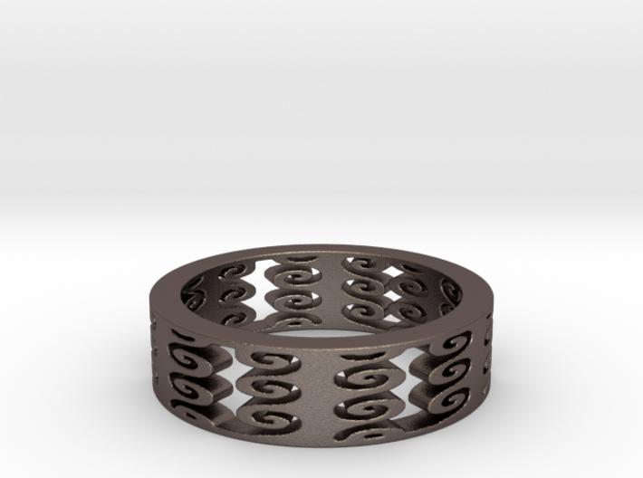 Vertical Swirls (Size 10) 3d printed