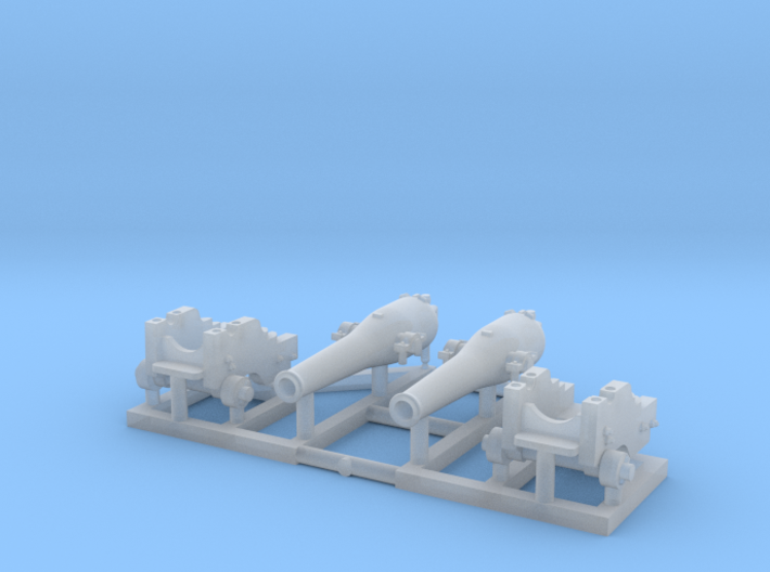 2 X 1/150 Dahlgren IX Smoothbore Cannon 3d printed