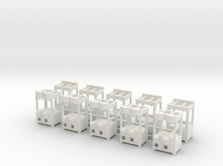 "10 Greiferautomaten nach ""Ex 1"" 1:87 (H0 scale)  3d printed"