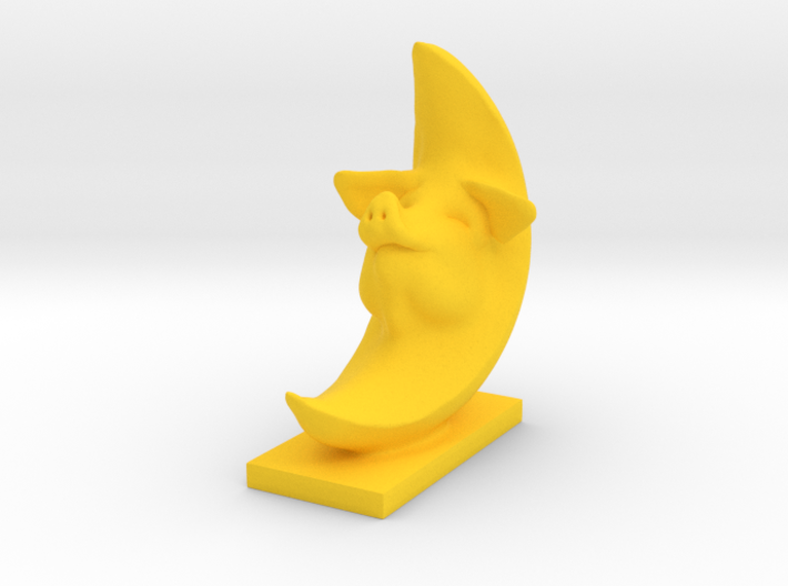 Pig In The Moon 4 inches tall 3d printed celestial pig