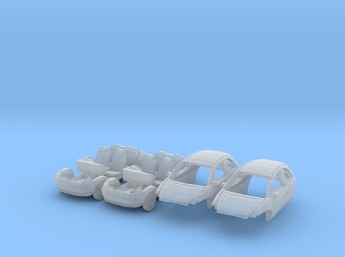 SET 2x Ford Ka (British N 1:148) 3d printed