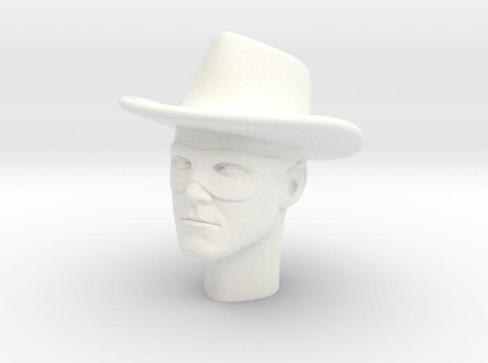 1:6 Scale Lone Ranger Head 3d printed