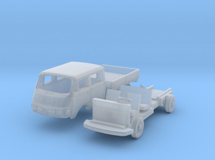 Mercedes-Benz L206D Doka (N 1:160) 3d printed