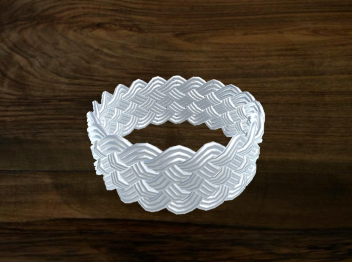 Turk's Head Knot Ring 6 Part X 20 Bight - Size 18. 3d printed