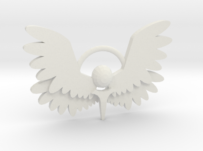 Winged Keychain 3d printed