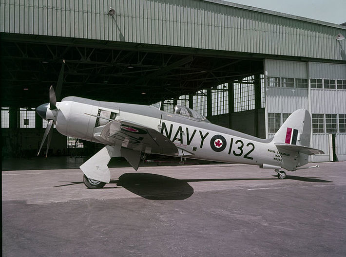 Nameplate Sea Fury FB.11 (10 cm) 3d printed Photo: Library and Archives of Canada.