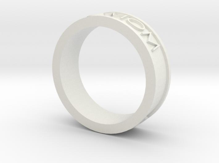 Basic Ring Size 8 ASU MOM 3d printed