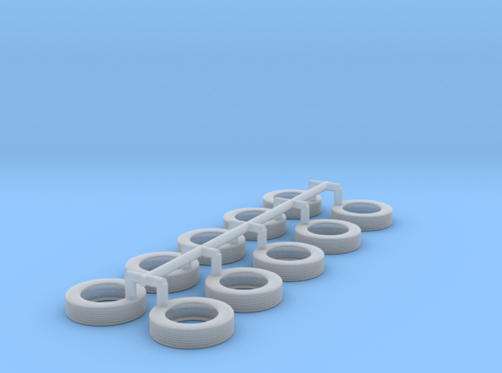 1/64 Scale tire for tag axle wheel 3d printed