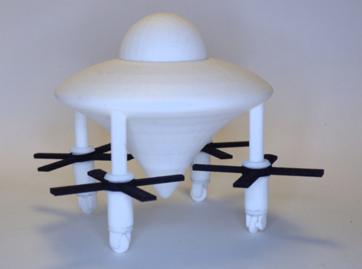 Propellers for the Spaceship of the Ezekiel 3d printed The white parts are sold separately