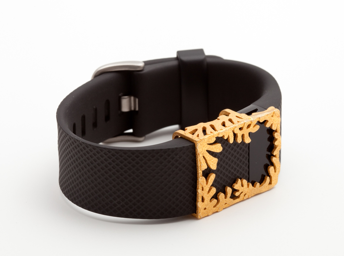Steel Matisse frame for Fitbit Charge & HR 3d printed