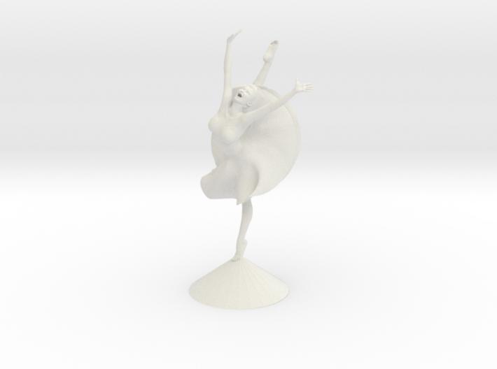 Joyful Dancer w/skirt and short hair 3d printed
