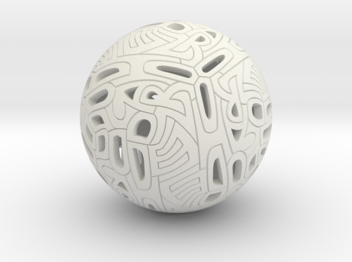 Dodecahedron Autologlyph 3d printed